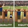 「平等」と「公正」の大きな違いが1秒で納得できる画像